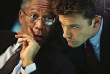 Sum of All Fears -- Morgan Freeman and Ben Affleck
